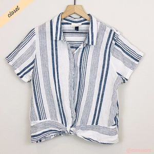 [Universal Threads] Striped Knot Bottom Shirt